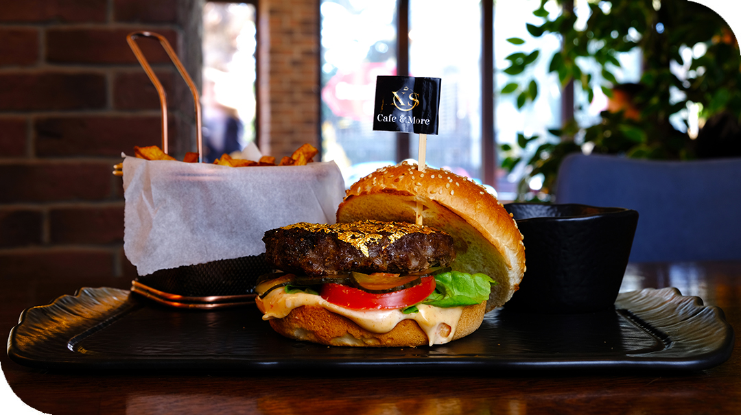 gold beef burger