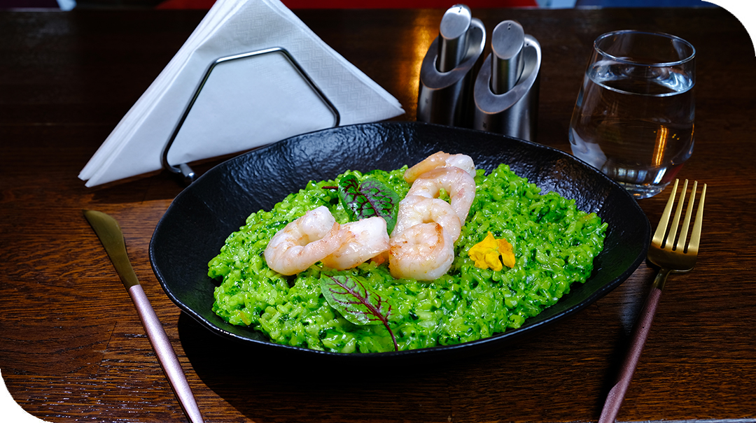 green risotto